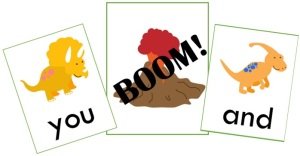 Preview Dinosaur BOOM! Sight word Gane