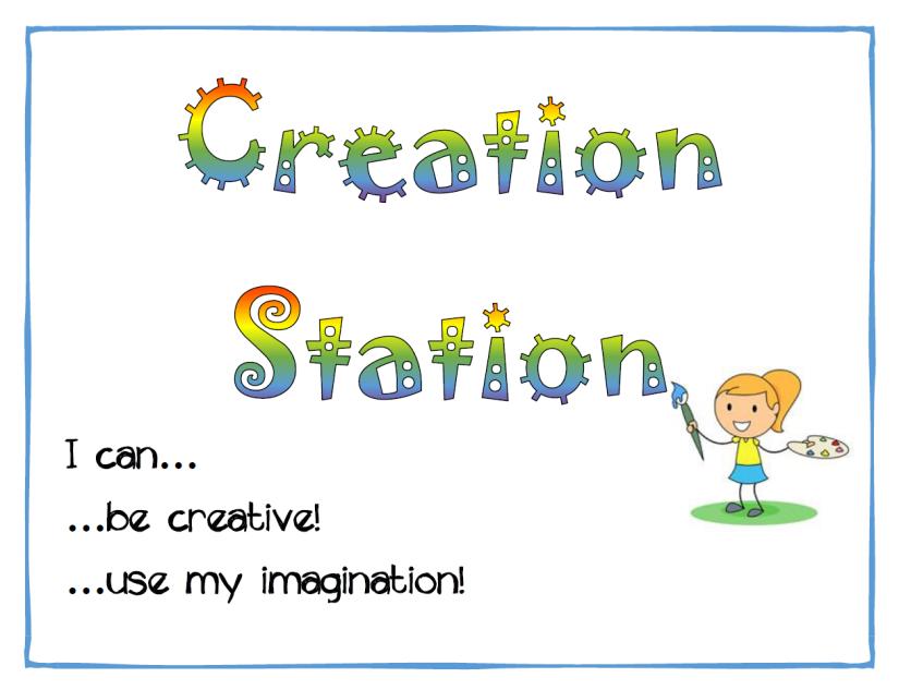 creation station sign