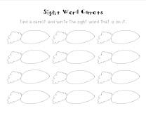 Sight Word Carrots