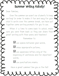 Summer Writing Activity Preview02