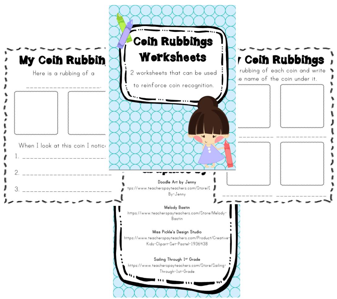 Coin Rubbings Worksheets – Creative Kindergarten