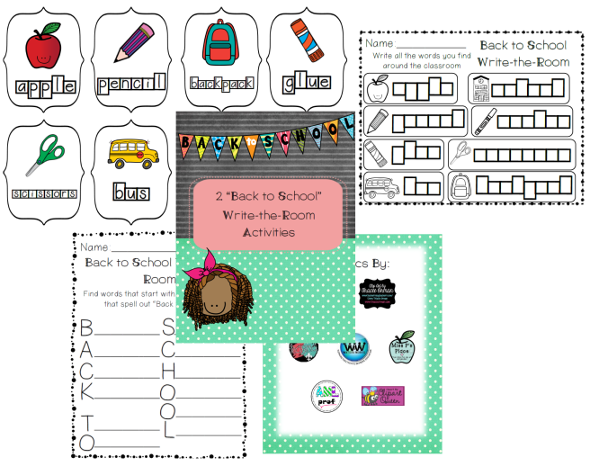 Back To School Write the Room Preview