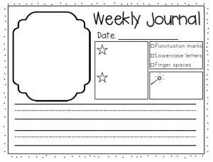 weekly-journal-writing-one