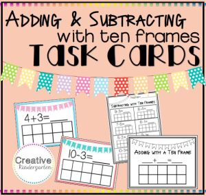 Adding and Subtracting with a ten frame square preview