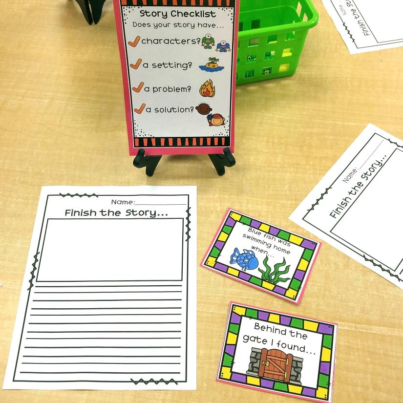 kindergarten story writing paper