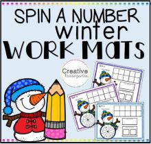 Spin a Number Winter Work Mats SQUARE