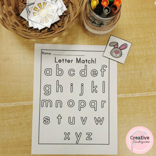 letter match phonics worksheets for kindergarten.