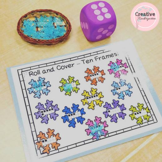 Winter math activity for kindergarten.