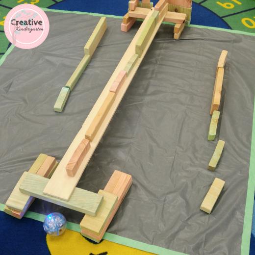 Building bridges for the Sphero robot to race under.