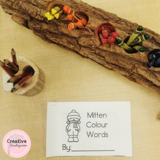 color word emergent reader books for kindergarten students.