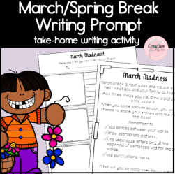 March Madness & Spring Break Writing Prompt- square preview