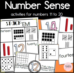 Number Sense Activities 11-20 square preview