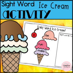 Sight Word Ice Cream- square preview