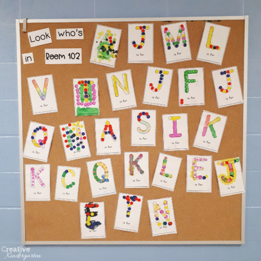 Free Bulletin Board Letters printable for the beginning of the school year. Great back to school name activity for Welcome to Kindergarten or Meet the Teacher.