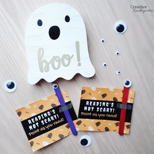 Freebie for Halloween gift for students. Fall-themed centers and activities for you kindergarten classroom. Perfect for autumn activities for hands-on, fun, play-based learning. Includes a free download for a fun Halloween gift for your students.