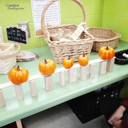 Pumpkin STEM activity for kindergarten. Fall-themed centers and activities for you kindergarten classroom. Perfect for autumn activities for hands-on, fun, play-based learning. Includes a free download for a fun Halloween gift for your students.
