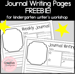 Journal Writing Pages Freebie- Square Preview